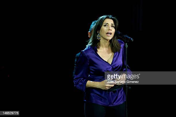 Spanish actress Alicia Borrachero receives Best actress of Television adward during 21st 'Union de Actores Awards' 2012 gala at Circo Price Theater...