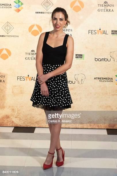 Spanish actress Alicia Rubio attends 'Tiempo de Guerra' photocall at the PAlacio de Congresos during the FesTVal 2017 on September 6 2017 in...