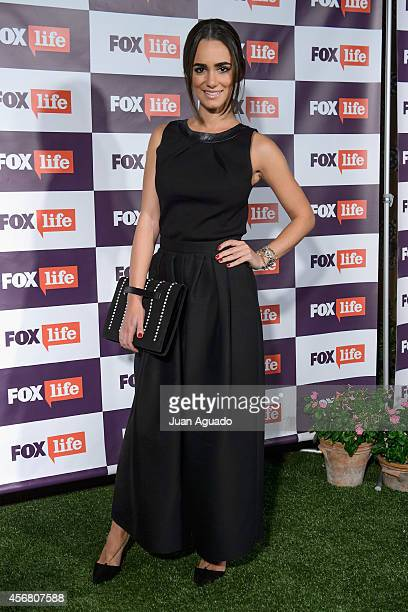 Spanish actress Alicia Sanz attends the Fox Live new channel cocktail presentation at Pinar Club on October 7, 2014 in Madrid, Spain.