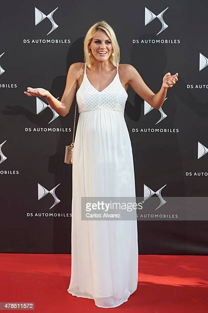 Spanish actress Amaia Salamanca attends DS Automobiles presentation at the French Embassy on June 25 2015 in Madrid Spain