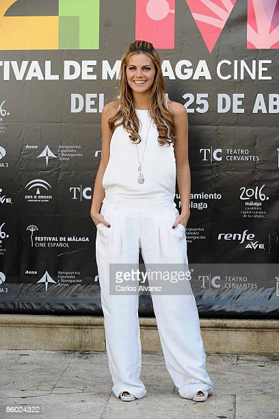 Spanish actress Amaia Salamanca attends Fuga de Cerebros photocall at the Cervantes Theater during the 2th Malaga Film Festival on April 18 2009 in...