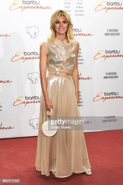 Spanish actress Amaia Salamanca attends the Bambu 10th anniversary party at Gran Maestre Theater on July 5 2018 in Madrid Spain