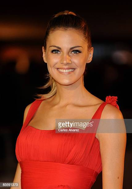 Spanish actress Amaia Salamanca attends the Quantum of Solace premiere at the Palau de las Arts on November 06 2008 in Valencia Spain