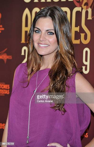 """Spanish actress Amaia Salamanca attends """"Union de Actores"""" awards at the Price Circus on March 29, 2010 in Madrid, Spain."""