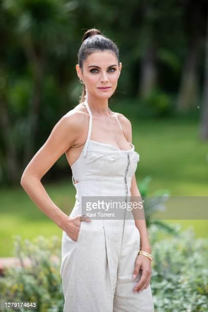 Spanish actress Amaia Salamanca, Codorniu's new brand ambassador, poses for a portrait during the presentation of the Christmas Spot 'Vivir para...