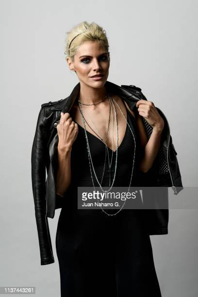 Spanish actress Amaia Salamanca poses for a portrait session at Teatro Cervantes during 22nd Spanish Film Festival of Malaga on March 21 2019 in...