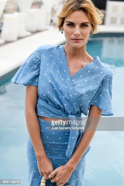 Spanish actress Amaia Salamanca poses in a portrait session during 21th Malaga Film Festival 2018 on April 20 2018 in Malaga Spain