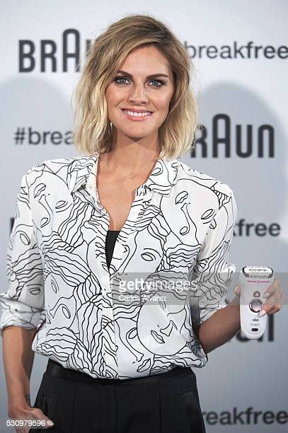Spanish actress Amaia Salamanca presents the new Braun products at Las Letras Hotel on May 12 2016 in Madrid Spain