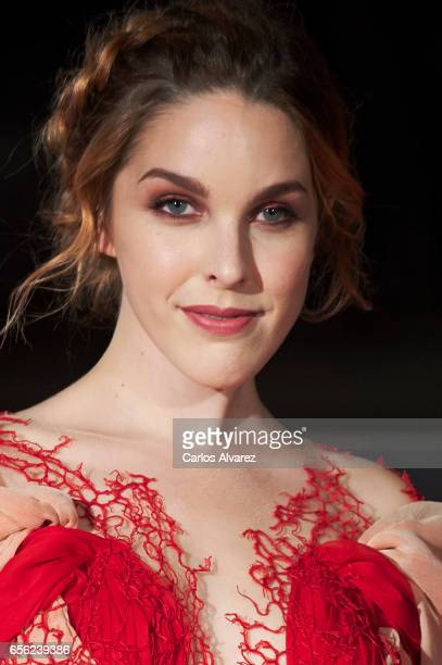 Spanish actress Amarna Miller attends the 'Brava' premiere on day 5 of the 20th Malaga Film Festival at the Cervantes Teather on March 21 2017 in...