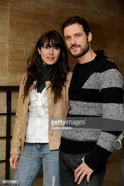 Spanish actress Ana Allen and actor Daniel Grao present Acusados second season at Tele 5 television set on January 12 2010 in Madrid Spain