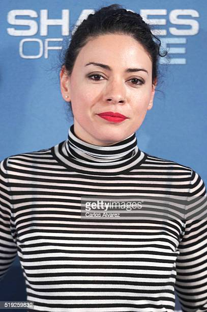 """Spanish actress Ana Arias attends """"Shades Of Blue"""" premiere at the Callao cinema on April 5, 2016 in Madrid, Spain."""