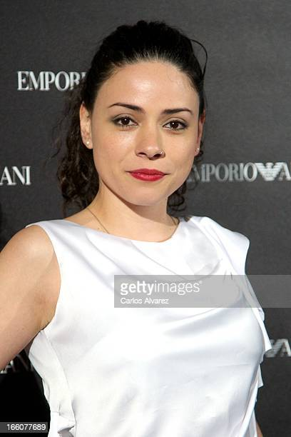 Spanish actress Ana Arias attends the Emporio Armani Boutique opening on April 8 2013 in Madrid Spain