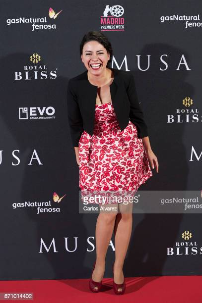 Spanish actress Ana Arias attends the 'Musa' premiere at the Callao cinema on November 6, 2017 in Madrid, Spain.