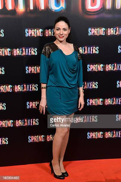 Spanish actress Ana Arias attends the Spring Breakers premiere at the Callao cinema on February 21 2013 in Madrid Spain