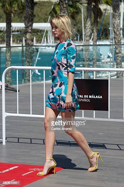 Spanish actress Ana de Armas attends the Por un Punado de Besos photocall during the 17th Malaga Film Festival 2014 Day 6 on March 26 2014 in Malaga...