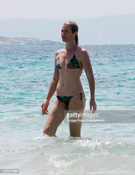 Spanish actress Ana Duato is seen on June 30 2010 in Ibiza Spain