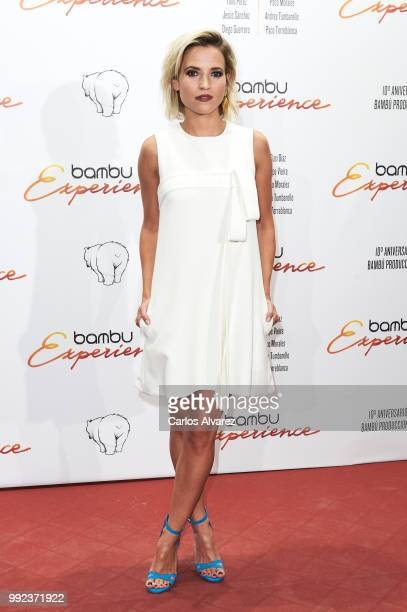 Spanish actress Ana Fernandez attends the Bambu 10th anniversary party at Gran Maestre Theater on July 5 2018 in Madrid Spain