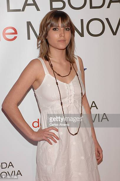 Spanish actress Ana Fernandez attends the premiere of 'Made Of Honor' on May 21 2008 at the Capitol cinema in Madrid Spain
