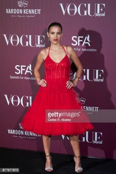 Spanish actress Ana Fernandez attends the 'Vogue Joyas' awards 2017 at the Santona Palace on November 23 2017 in Madrid Spain
