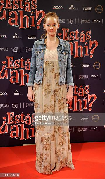 Spanish actress Ana Maria Polvorosa attends Estas Ahi premiere at Palafox cinema on May 12 2011 in Madrid Spain