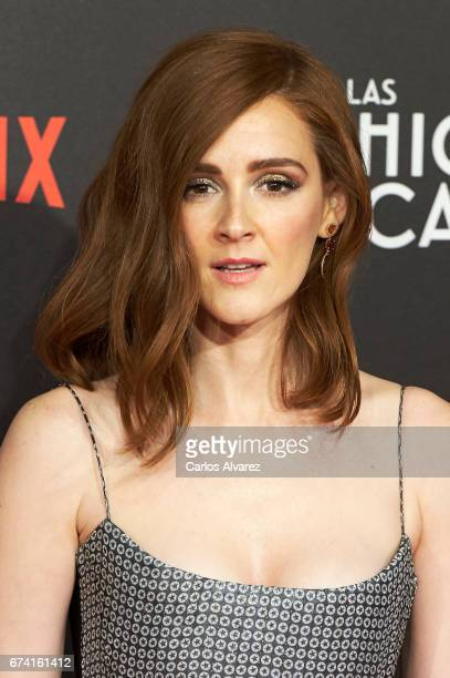Spanish actress Ana Maria Polvorosa attends 'Las Chicas Del Cable' premiere at the Callao cinema on April 27 2017 in Madrid Spain