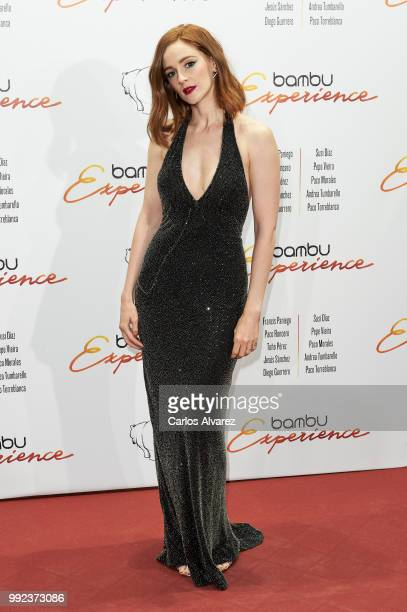 Spanish actress Ana Maria Polvorosa attends the Bambu 10th anniversary party at Gran Maestre Theater on July 5 2018 in Madrid Spain