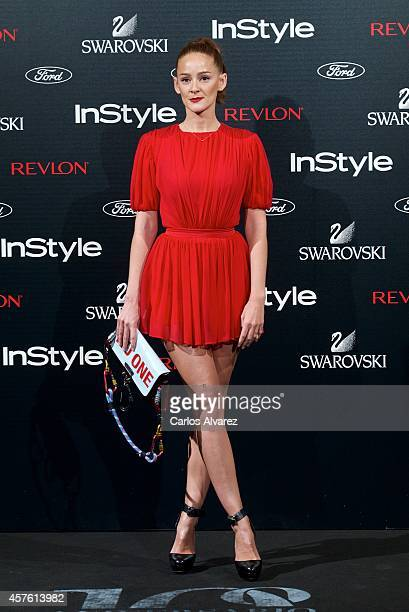 Spanish actress Ana Maria Polvorosa attends the In Style Magazine 10th Anniversary party at the Melia Fenix Hotel on October 21 2014 in Madrid Spain