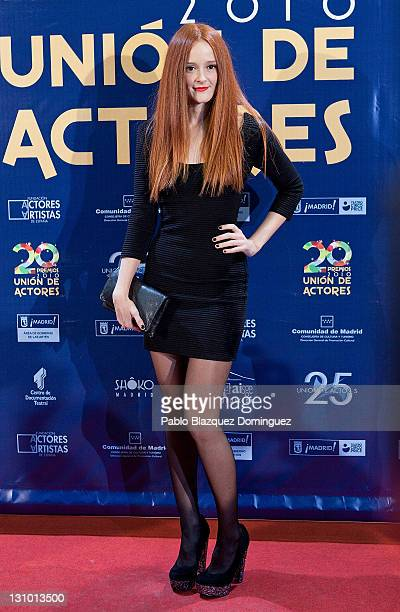 Spanish actress Ana Maria Polvorosa attends XX Union de Actores Awards at Circo Price Theatre on October 31 2011 in Madrid Spain