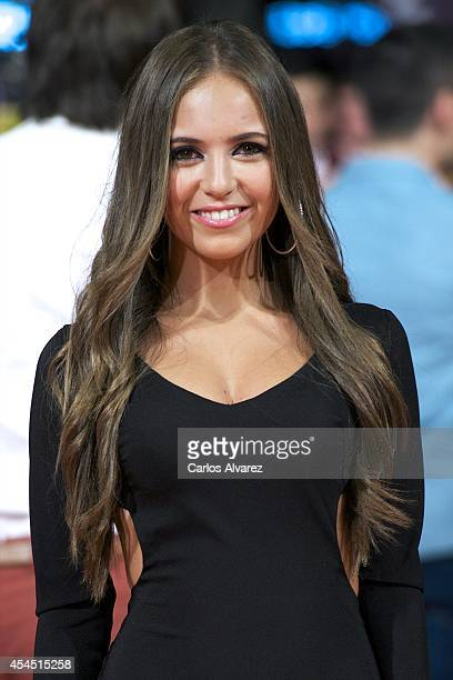 Spanish actress Ana Mena attends Vivo Cantando premiere at the Principal Theater during the FesTVal 2014 day two on September 2 2014 in...