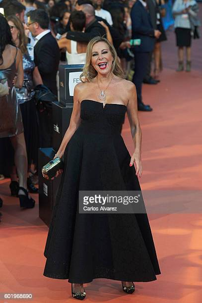 Spanish actress Ana Obregon attends FesTVal 2016 Television Festival close ceremony at Principal Teather on September 10 2016 in VitoriaGasteiz Spain
