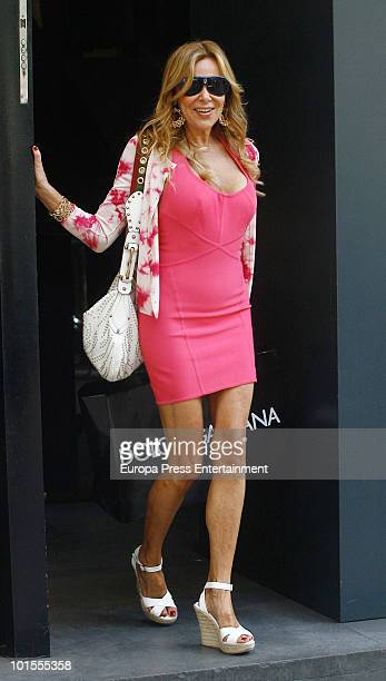 Spanish Actress Ana Obregon is seen sighting on June 2 2010 in Madrid Spain