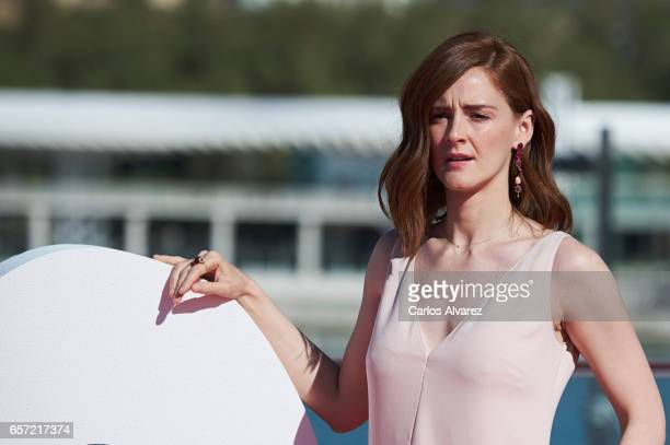 Spanish actress Ana Polvorosa attends the 'Pieles' photocall on day 8 of the 20th Malaga Film Festival on March 24 2017 in Malaga Spain