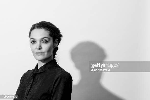 Spanish actress Ana Rujas poses for a portrait session during 63rd SEMINCI International Film Week of Valladolid on October 26 2018 in Valladolid...