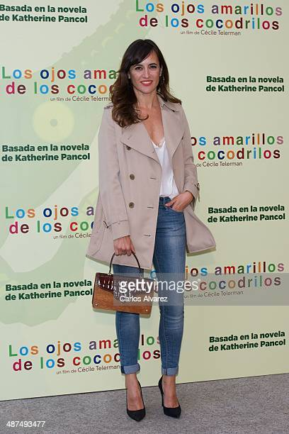 Spanish actress Ana Turpin attends the Los Ojos Amarillos de los cocdrilos premiere at the Academia de Cine on April 30 2014 in Madrid Spain