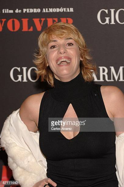 Spanish actress Anabel Alonso attends the Spanish premiere for Volver at the Palacio de la Musica Cinema on March 16 2006 in Madrid Spain