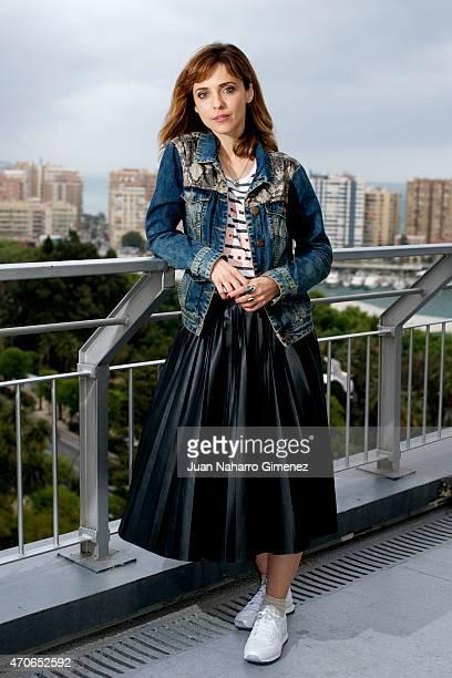 Spanish actress and director Leticia Dolera poses during the 18th Malaga Spanish Film Festival at AC Malaga Palacio Hotel on April 22 2015 in Malaga...