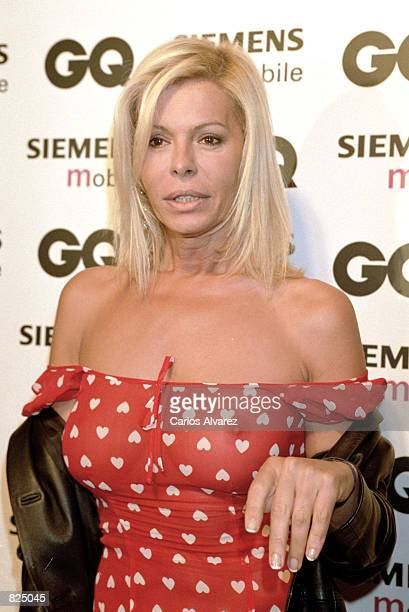 Spanish actress and model Bibi Andersen attends the Spring/Summer 2001 GQ fashion show party May 7 2001 in Madrid Spain