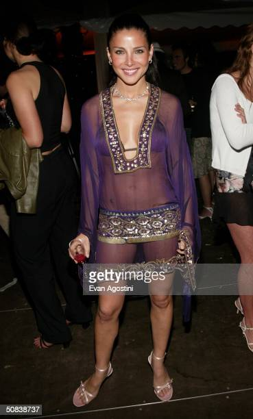 Spanish actress and model Elsa Pataky attends 'The Chopard Trophy' party at Palm Beach May 14 2004 in Cannes France The party is Chopard's fourth...
