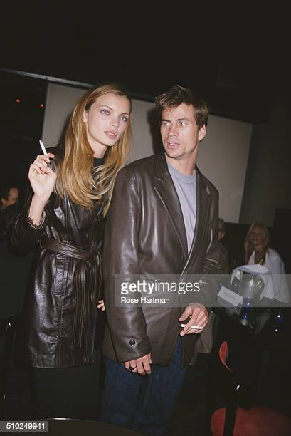 Spanish actress and model Esther Cañadas and her husband Dutch model Mark Vanderloo at the Christina Ortiz House of Lanvin launch being held at Lot...