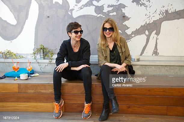 Spanish actress and singer Nawja Nimri and Spanish singer Christina Rosenvinge present Aperol Spritz Sound Agenda at San Anton market on April 24...