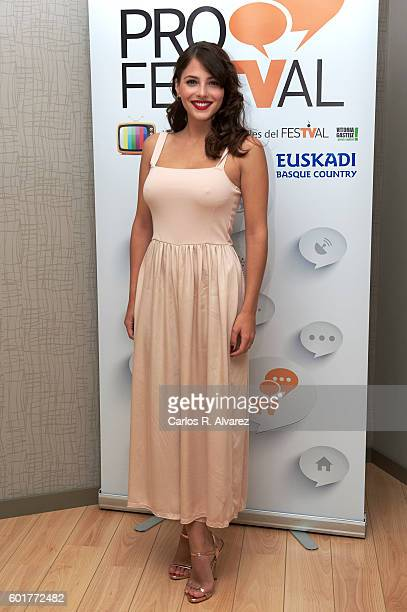 Spanish actress Andrea Duro attends 'Fisica o Quimica' photocall at Palacio de Congresos during FesTVal 2016 Closing Day on September 10 2016 in...