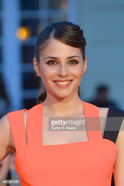 Spanish actress Andrea Duro attends the 17th Malaga Film Festival 2014 closing ceremony at the Cervantes Theater on March 29 2014 in Malaga Spain