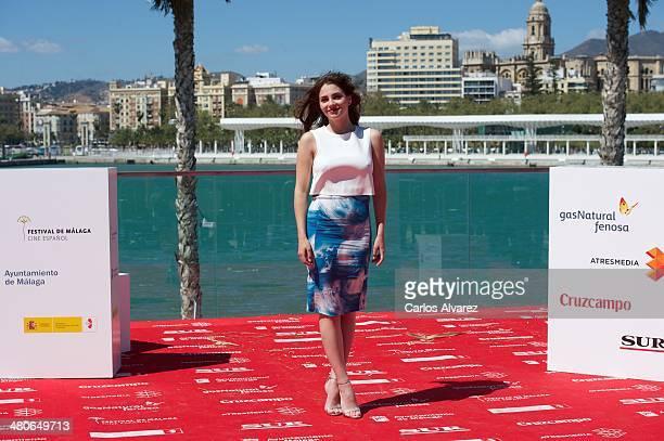 Spanish actress Andrea Duro attends the Por un Punado de Besos photocall during the 17th Malaga Film Festival 2014 Day 6 on March 26 2014 in Malaga...