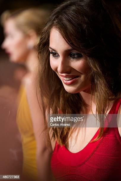 Spanish actress Andrea Duro attends the Por un Punado de Besos premiere during the 17th Malaga Film Festival 2014 Day 6 at the Cervantes Theater on...