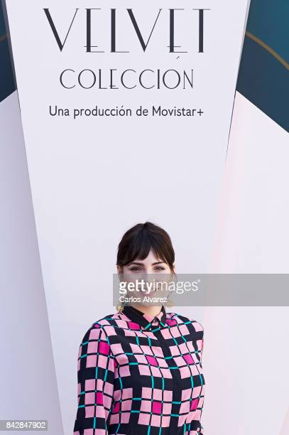 Spanish actress Andrea Duro attends 'Velvet Colecction' photocall at the Escoriaza Esquivel Palace during the FesTVal 2017 on September 5 2017 in...