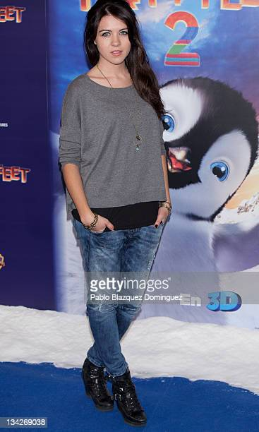 Spanish actress Andrea Guasch attends Happy Feet Two Premiere at Kinepolis Cinema on November 29 2011 in Madrid Spain