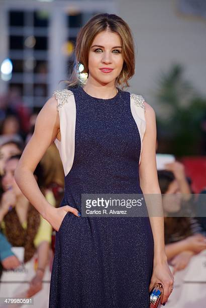 Spanish actress Andrea Guasch attends the 17th Malaga Film Festival 2014 opening ceremony at the Cervantes Theater on March 21 2014 in Malaga Spain