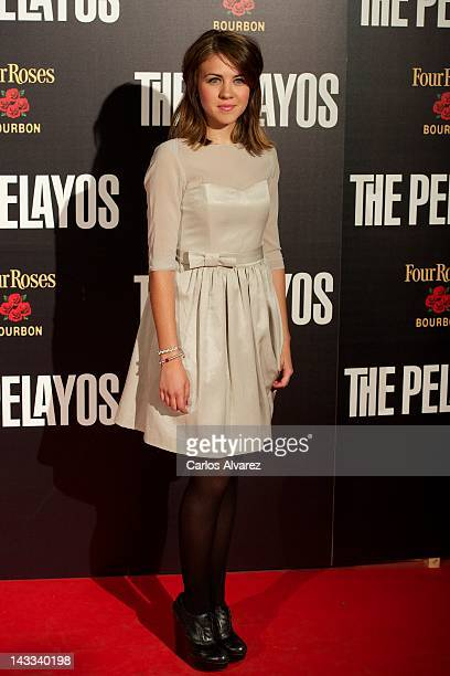 Spanish actress Andrea Guasch attends The Pelayos premiere at Fortuny Club on April 24 2012 in Madrid Spain