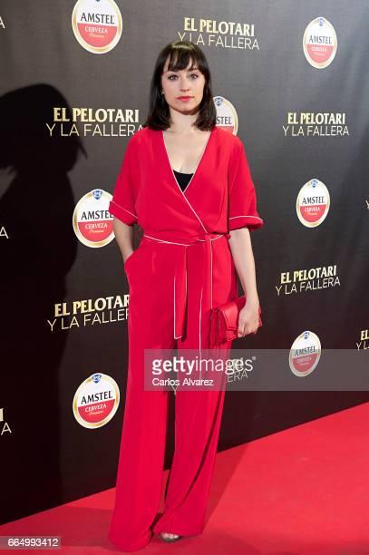 Spanish actress Andrea Trepat attends 'El Pelotari Y La Fallera' premiere at the Callao cinema on April 5 2017 in Madrid Spain
