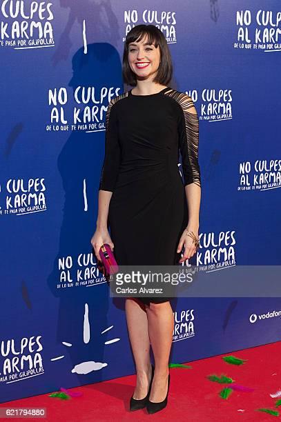 Spanish actress Andrea Trepat attends 'No Culpes al Karma De lo Que Te Pasa Por Gilipollas' premiere at Callao cinema on November 8 2016 in Madrid...